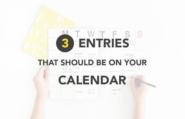 Calendar Entry