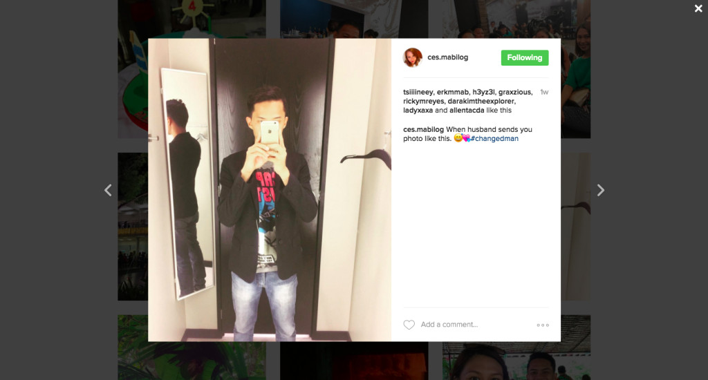 screen shot instagram